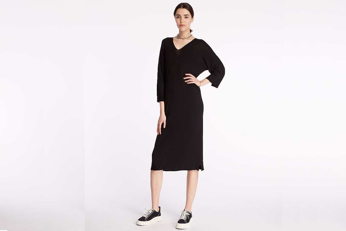 Dress and sneakers. Pietro Filipi brand newly at footshop.cz.